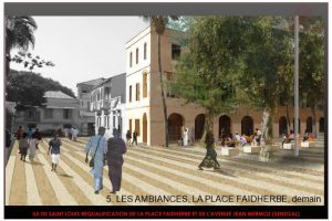 REQUALIFICATION DE LA PLACE FAIDHERBE ET L'AVENUE JEAN MERMOZ A SAINT LOUIS - SENEGAL (2)
