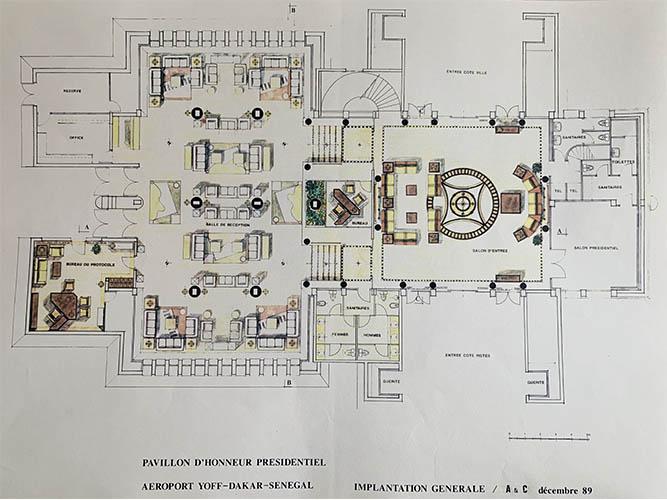 Pavillon d'honneur présidentiel aéroport Yoff (1)